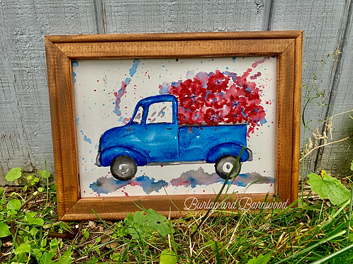 Blue Truck Watercolor