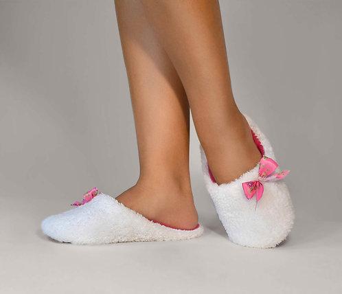 """Тапочки - шлепки th 03 """"White"""" с розовым"""