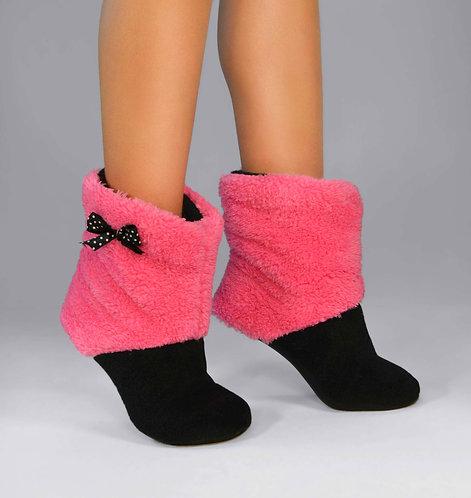 """Махровые тапочки-cапожки tm 15 """"Honey Pink"""""""