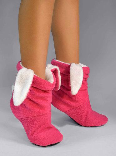 "Модные тапочки tf 12 ""Зайчики"" розово-белые"