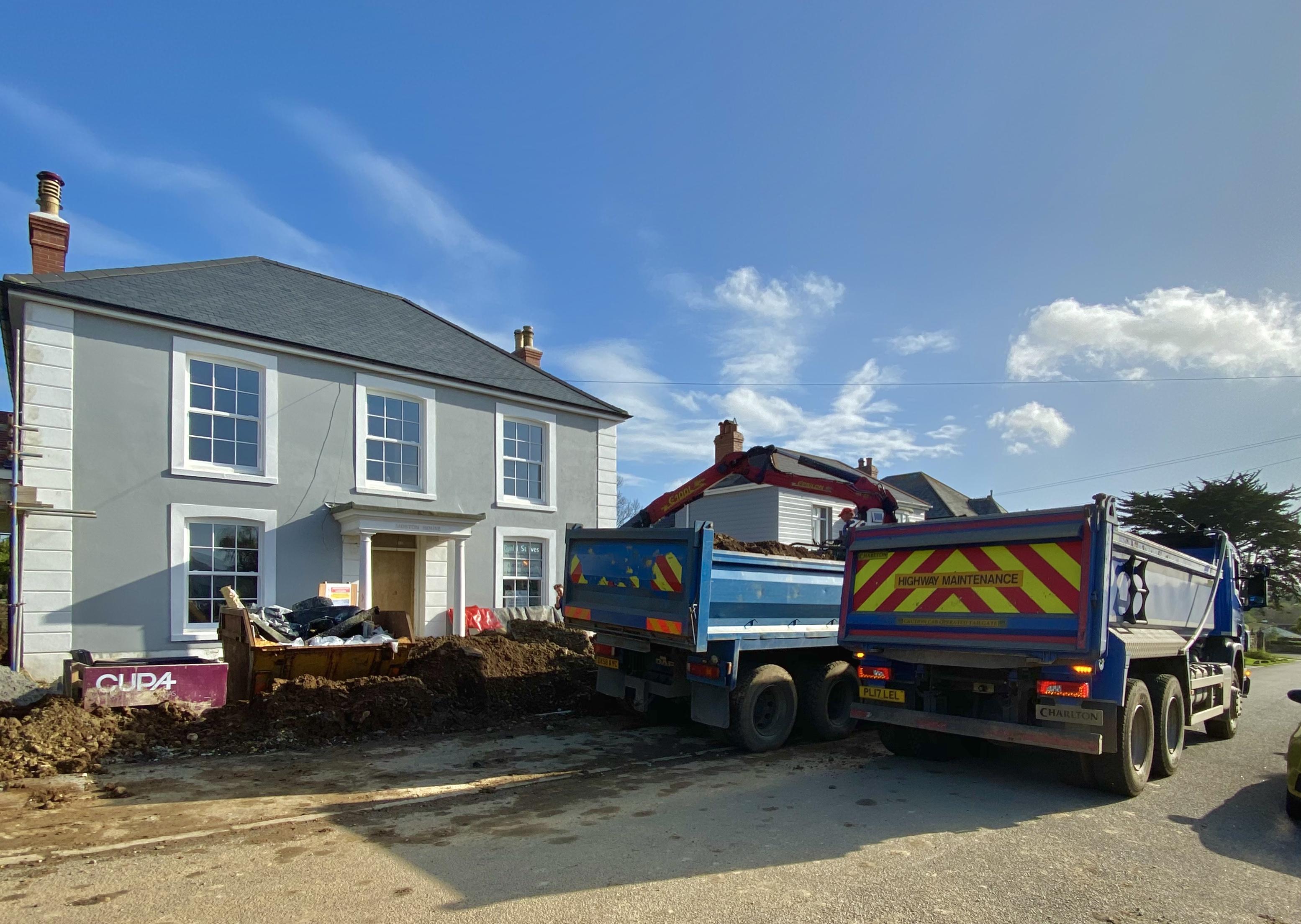 Crane Lorry Off Loading