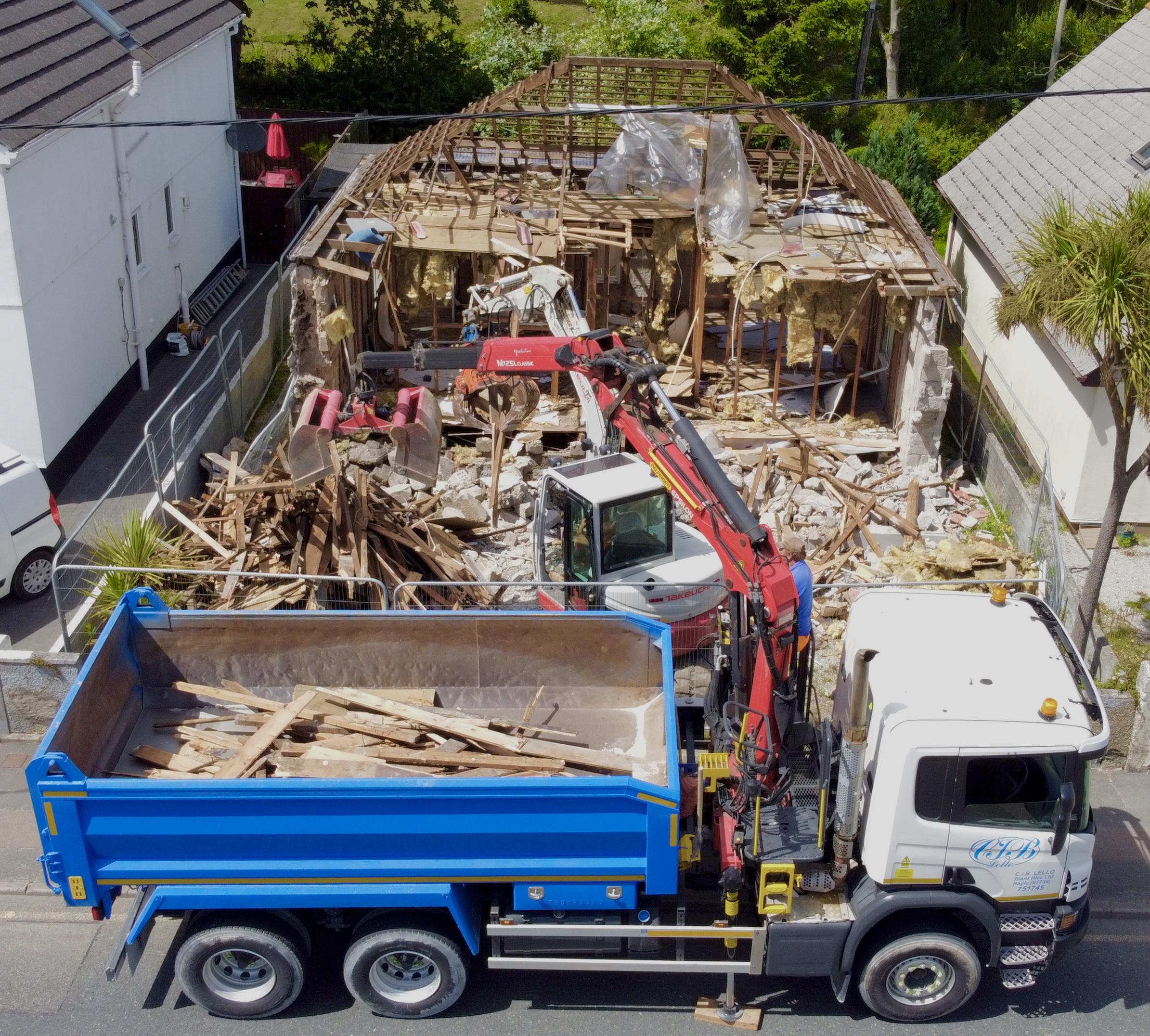 Hayle Demolition First Day