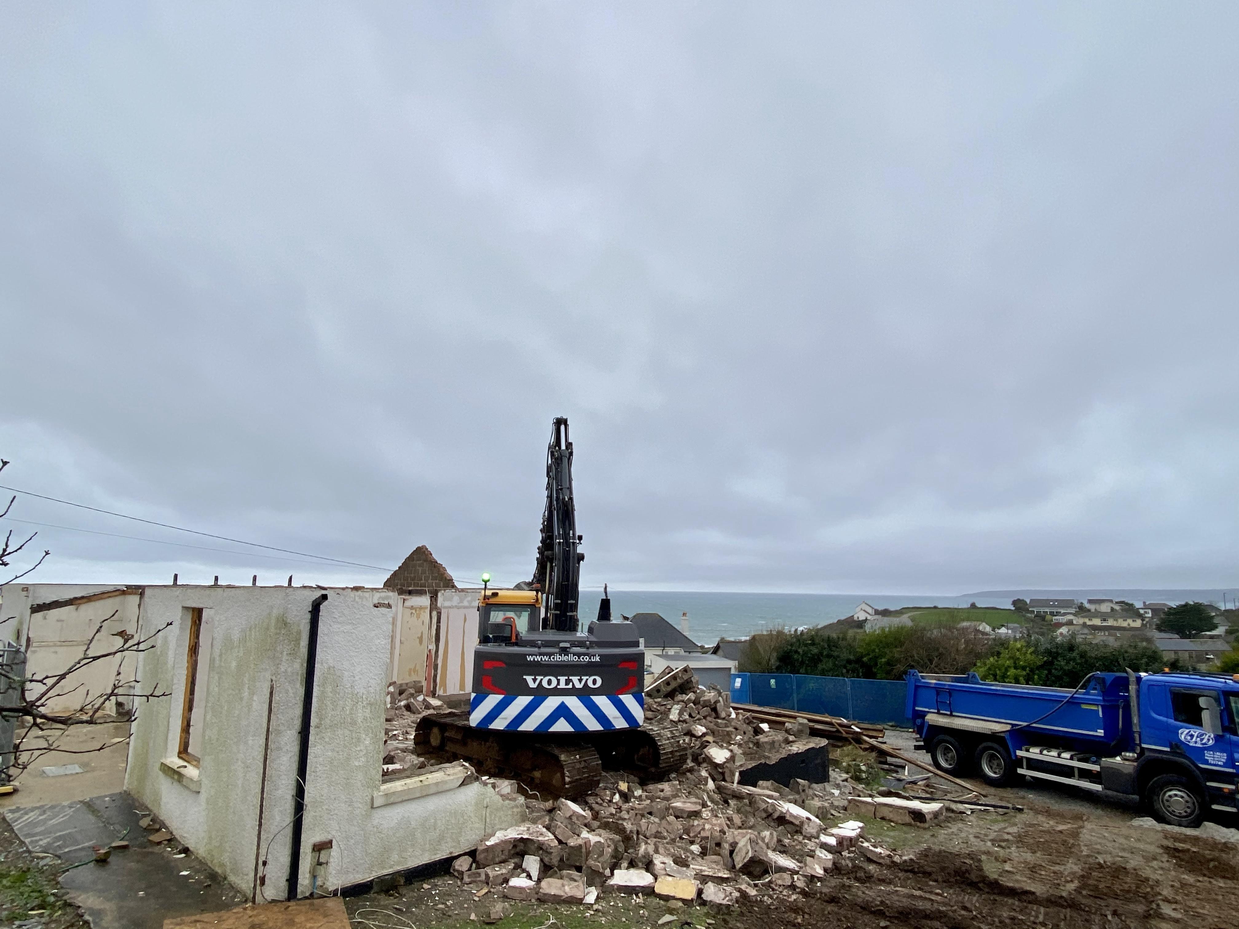 Demolition man at Perranuthoe