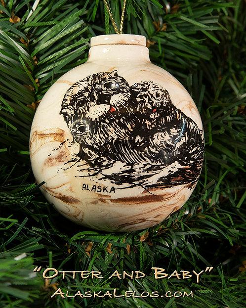 Otter and Baby (Alaska Clay)