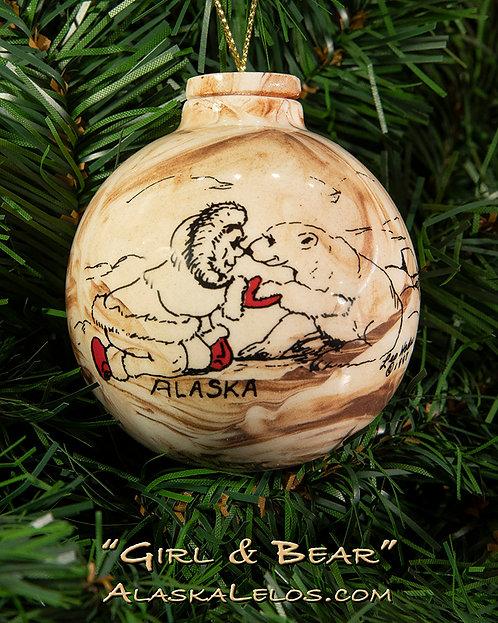 Girl and Bear (Alaska Clay)