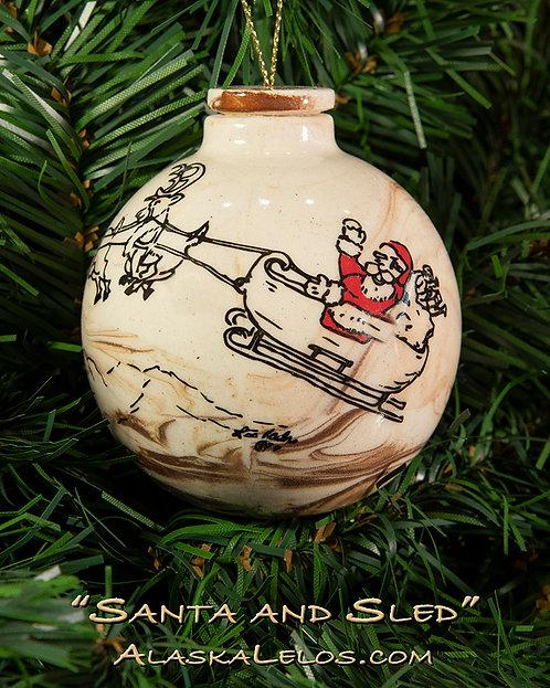 Santa and Sled (Alaska Clay)
