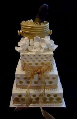 Champagne Wedding Shower Cake