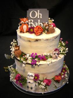 OhBabyAbella_Forest Animal Baby Shower Cake