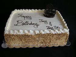 Cannoli Birthday Cake