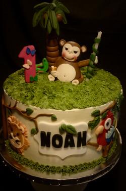 Noah's 1st Birthday Cake