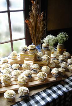 Rustic Wedding Shower Cupcakes