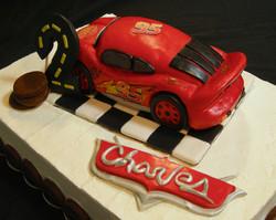 Cars Lightening McQueen Themed Birthday Cake