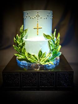 Oliver's Baptism Cake