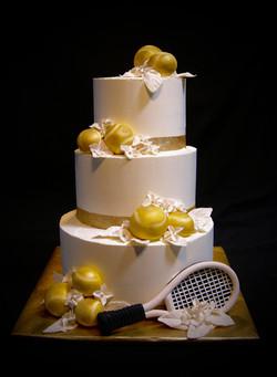 Boris & Natalya Tennis Themed Cake