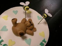 Bear & Bees Baby Shower Cake