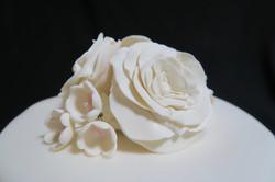 Sofia's Communion Cake Rose Topper