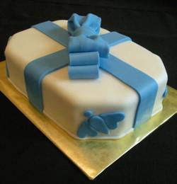 Lil Kim's Blue Baby Shower Cake