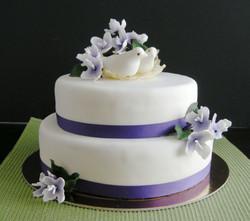 Love Birds Shower Cake