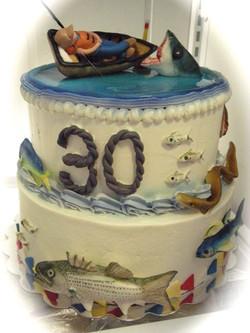 Fishing Themed Birthday Cake
