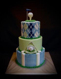 Oliver's 1st Birthday Golf Themed Cake