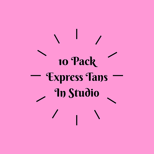 10 Pack Express Tans- In Studio