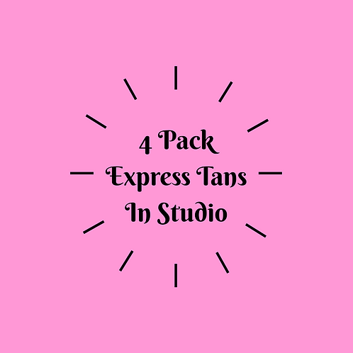 4 Pack Express Tans- In Studio