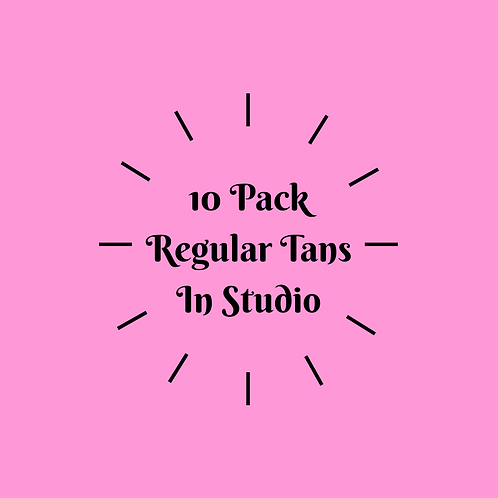 10 Pack Regular Tans- In Studio