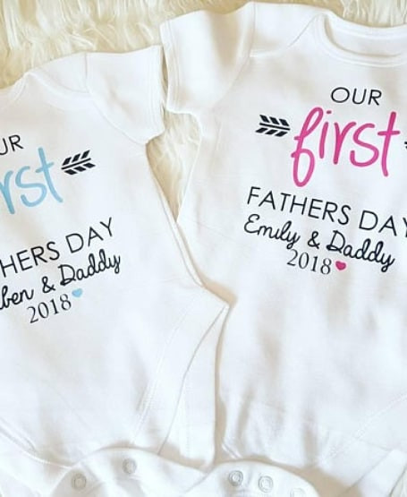 7a2e8255e Personalized 1st Father's Day Onesie