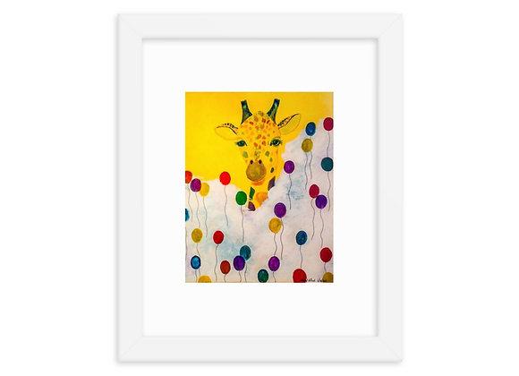Giraffe Framed Poster Print