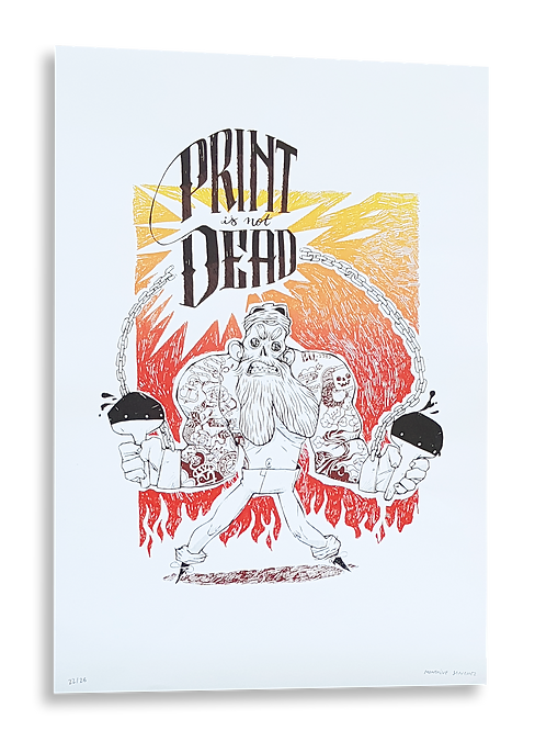 """""""Print is not dead"""" Montaine Sanchez"""