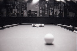 Over the cue ball