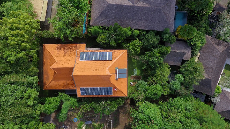 solar residential system in Bali at Eco Mantra founder. This solar system is using netmtering from PLN in Bali. The Solar Energy generated is saving more than 50% in the PLN bill.