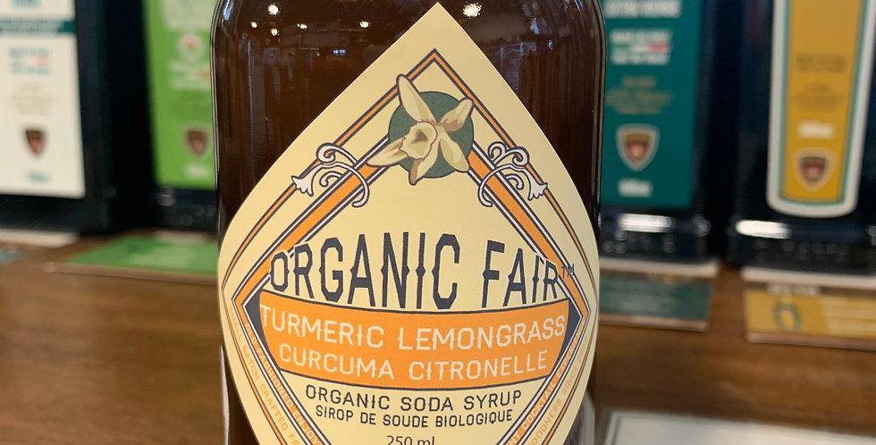 Organic Soda Syrup - Tumeric Lemongrass