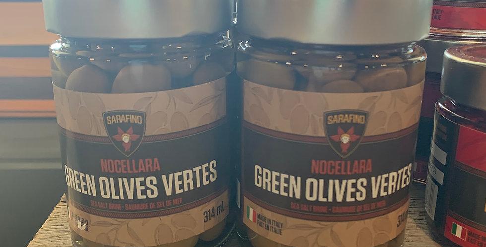 Green Olives in Sea Salt Brine