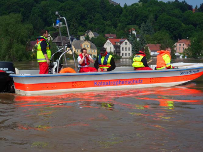 Einsatz Hochwasser 2013 in Meißen