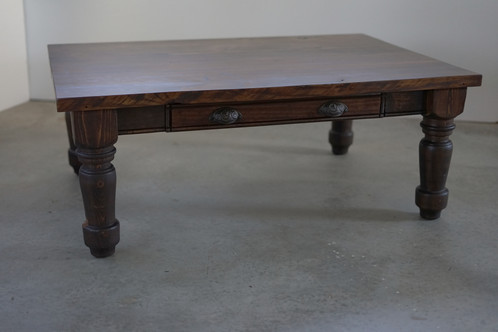 Made Of Solid Wood With Hand Crafted Legs, The Turned Leg Coffee Table Adds  Both Utility And Beauty To Your Living Room. The Oversize Drawer Easily  Stores ...