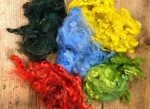 Mixpåse med okardad färgad ull