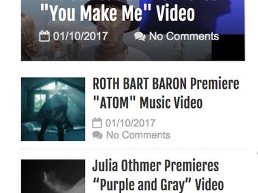 "Music blogMusic Video ""ATOM (UK mix) on Music blog ""LIVE N LOUD"""