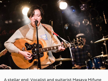 """""""JAPAN TIMES"""" LIVE REVIEW"""