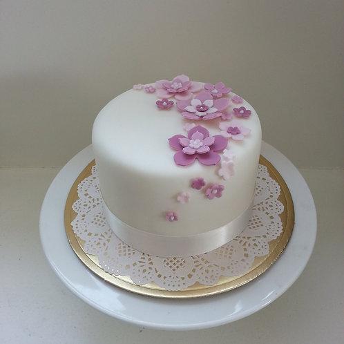 Pink bloemen taart
