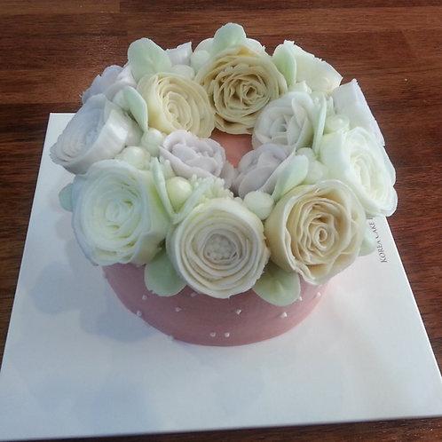 Botercrème bloemen taart 2