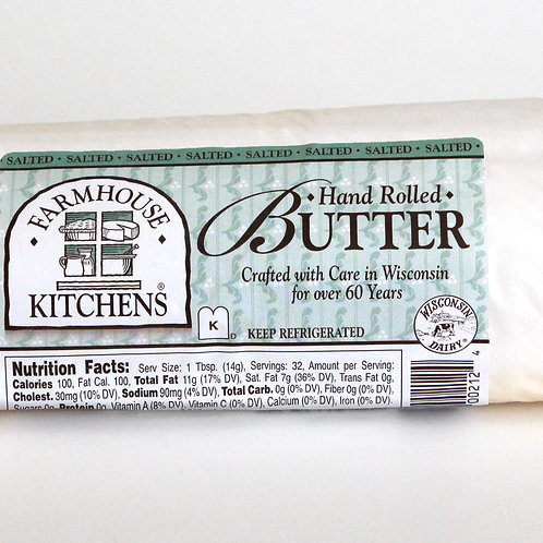 Hand Rolled Butter, Salted, 1lb