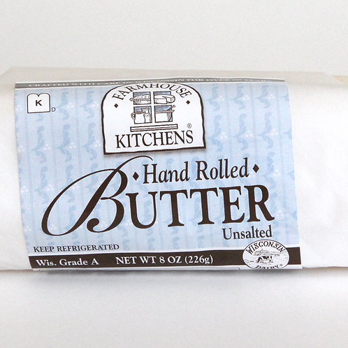 Hand Rolled Butter, Unsalted, 8oz