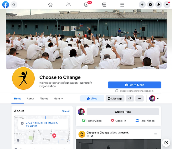 Like and Follow the Choose to Change Foundation Facebook Page!