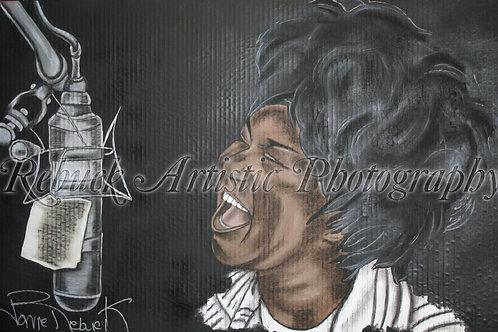 "Aretha Franklin ""23 x 36 painting"""
