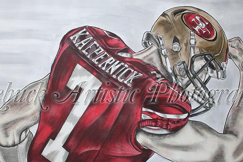 "49ers - Colin Kaepernick ""24 x 48 painting"""