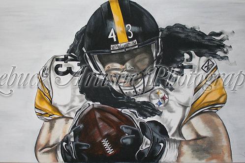 Pittsburg Steelers - Troy Polamalu 24x48 painting