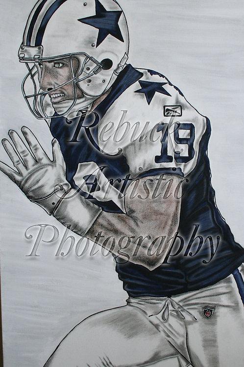 "Dallas Cowboys Miles Austin ""24 x 48 painting"""