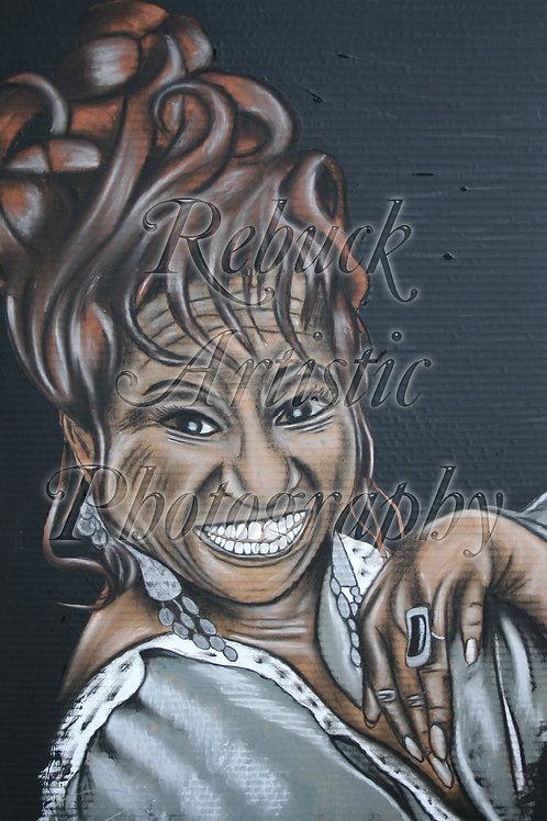 "Celia Cruz ""23 x 36 painting"""
