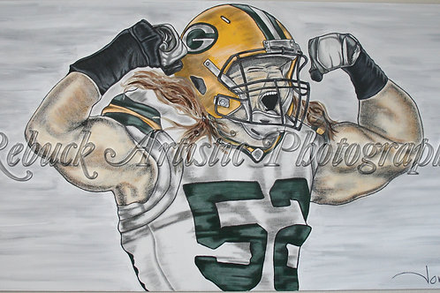 "Green Bay Packers - Clay Matthews"" 24 x 48 pnt"""